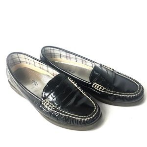 Sperry Patent Leather Top Sider Loafers